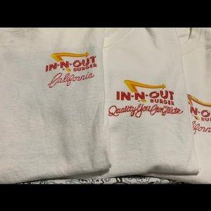 3 in n out burger t-shirts medium